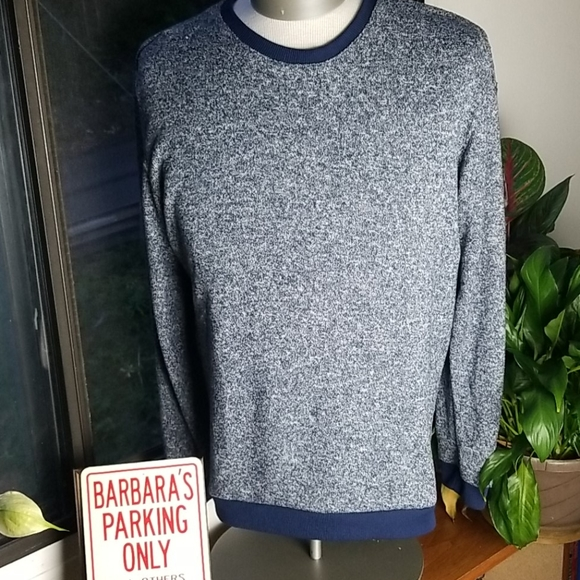 KENNETH COLD MENS HEATHERED PAJAMA SWEATER